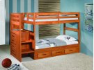 Twin/Twin Stairstep Bunkbed Product Image
