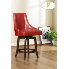 Pub Height Chair, Red