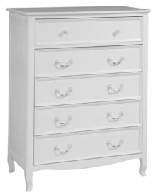 Emma 5 Drawer Chest White