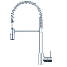Chrome The Foodie® Pre-Rinse Single Handle Spring-Spout Kitchen Faucet