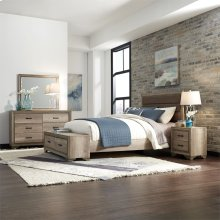 King Storage Bed, Dresser & Mirror, N/S