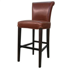 Bentley Leather Counter Stool, Cognac