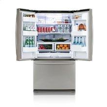 25.8 cu.ft. french door refrigerator - platinum stainless