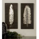Silver Leaves Metal Wall Panels, S/2 Product Image