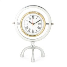Arber Silver and Gold Desk Clock