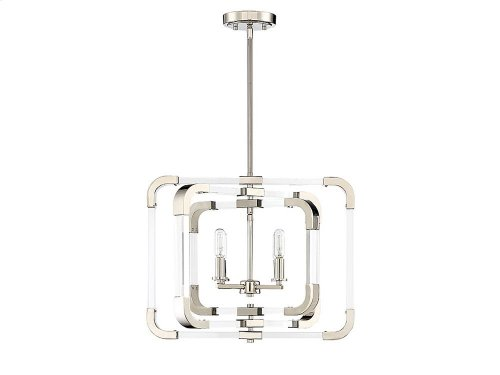 Rotterdam 4 Light Convertible Semi Flush