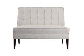 Settee Love Seat, Beige Fabric