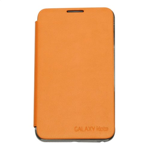 Galaxy Note Flip Cover Case, Orange