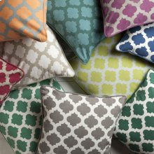 """Morrocan Printed Lattice MPL-007 18"""" x 18"""" Pillow Shell Only"""