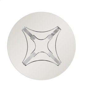 "1/2"" Round Tempered Glass Top"