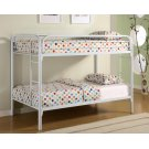 Contemporary White Twin Metal Bunk Bed Product Image