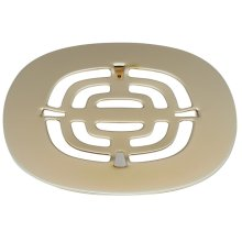 Snap In Shower Drain Trim Grid - Satin Brass