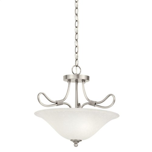 Stafford 2 Light Convertible Inverted Pendant Antique Pewter