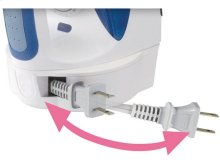 Steam Iron with Curved Non-Stick Coated Titanium Soleplate