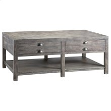 Bridgeport Rectangular Cocktail Table In Grey