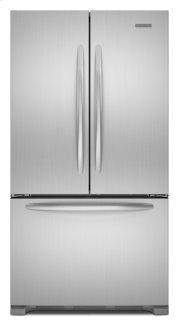 Monochromatic Stainless Steel KitchenAid® 22 Cu. Ft. Counter-Depth French Door Refrigerator, Architect® Series II