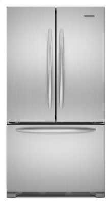 Monochromatic Stainless Steel KitchenAid® 22 Cu. Ft. Counter-Depth French Door Refrigerator, Architect® Series II