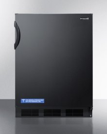 ADA Compliant Built-in Undercounter All-refrigerator for General Purpose Use, With Flat Door Liner, Auto Defrost Operation and Black Exterior