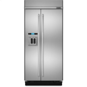 JENN-AIR48-Inch Built-In Side-by-Side Refrigerator with Water Dispenser