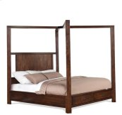Riata Queen Poster Headboard Warm Walnut finish