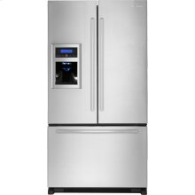 "Cabinet Depth French Door Refrigerator with External Dispenser, 69""(h), Euro-Style Stainless Handle"