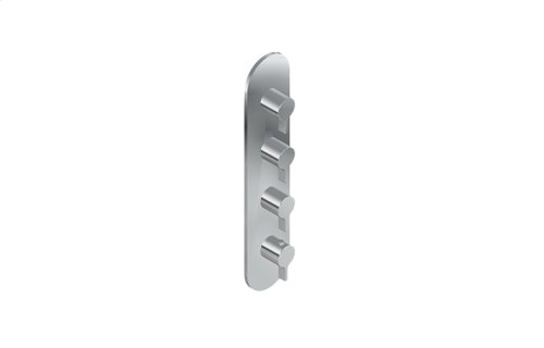 Terra M-Series Round Thermostatic 4-Hole Trim Plate and Handle