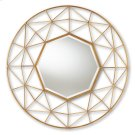 Baxton Studio Astra Modern and Contemporary Gold Finished Geometric Accent Wall Mirror Product Image