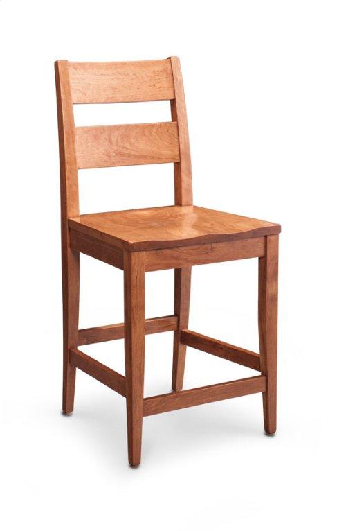 "Cadira Stationary Barstool, 24"" Seat Height"