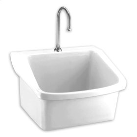 Surgeons Wall Mounted Scrub Sink - White