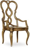 Auberose Splatback Wood Seat Arm Chair