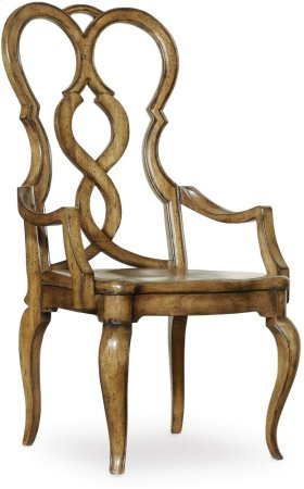 Auberose Splatback Wood Seat Arm Chair