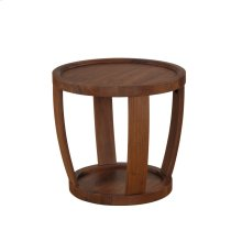 Dylan Round End Table Rustic Walnut