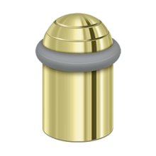 "Round universal Floor Bumper Dome Cap 2"", Solid Brass - Polished Brass"