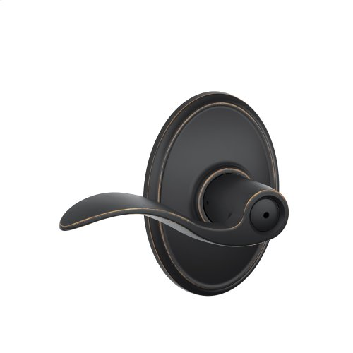 Accent Lever with Wakefield trim Bed & Bath Lock - Aged Bronze