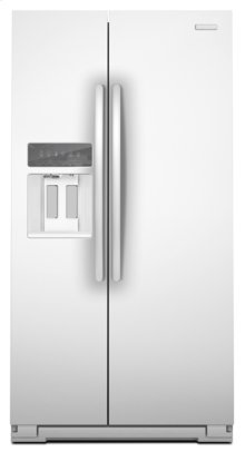 White KitchenAid® 23 Cu. Ft. Counter-Depth Side-by-Side Refrigerator, Architect® Series II