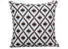 small: Plum Ikat cushion Product Image