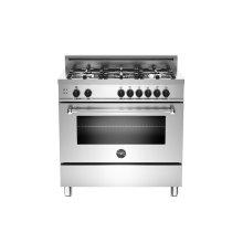 36 5-Burner, Gas Oven Stainless - Floor Model
