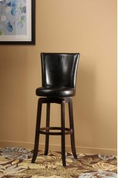 Copenhagen Swivel Bar Stool - Black/walnut