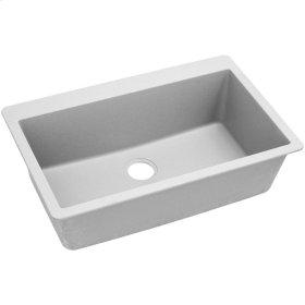 "Elkay Quartz Classic 33"" x 20-7/8"" x 9-7/16"", Single Bowl Top Mount Sink, White"