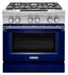 KitchenAid® 36-Inch 6-Burner Dual Fuel Freestanding Range, Commercial-Style - Cobalt Blue Product Image