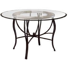 Pompei Dining Table - Ctn A - Metal Table Base With Slate Top