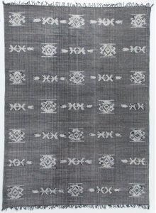 8'x12' Size Tribal Faded Black Rug
