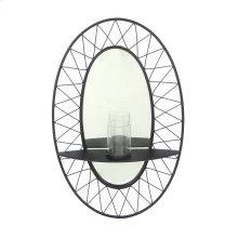 Black Metal Sconce Mirror