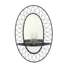 Black Metal Sconce Mirror