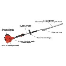 ECHO SHC-225 Fuel-Efficient Shafted Hedge Trimmer