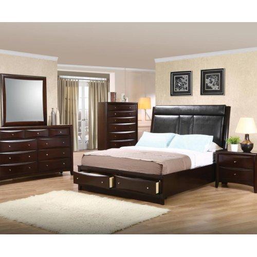 Phoenix Eastern King Panel Bed