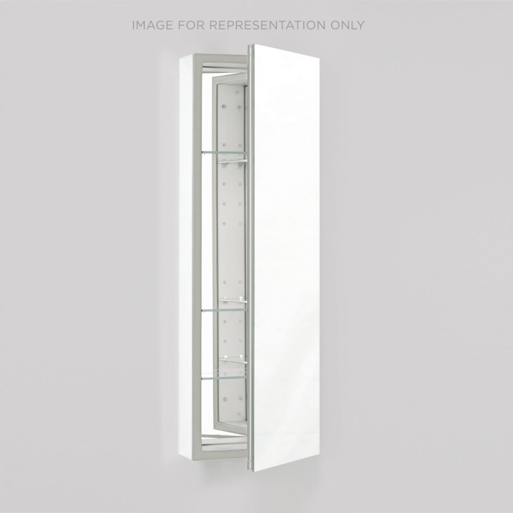 """Pl Series 15-1/4"""" X 39-3/8"""" X 4"""" Flat Top Cabinet With Polished Edge, Non-handed, White Interior and Non-electric"""