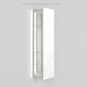 """Pl Series 15-1/4"""" X 39-3/8"""" X 4"""" Flat Top Cabinet With Polished Edge, Non-handed, White Interior and Non-electric Product Image"""