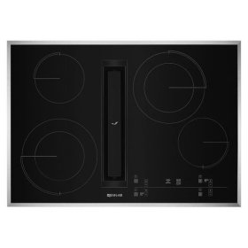 """JennAir® Euro-Style 30"""" JX3 Electric Downdraft Cooktop with Glass-Touch Electronic Controls - Stainless Steel"""