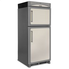 Ivory Left Hinge Classic Refrigerator Top Mount Freezer